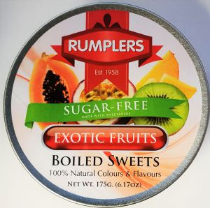 Sugar Free Boiled Sweets Exotic Fruit Tin